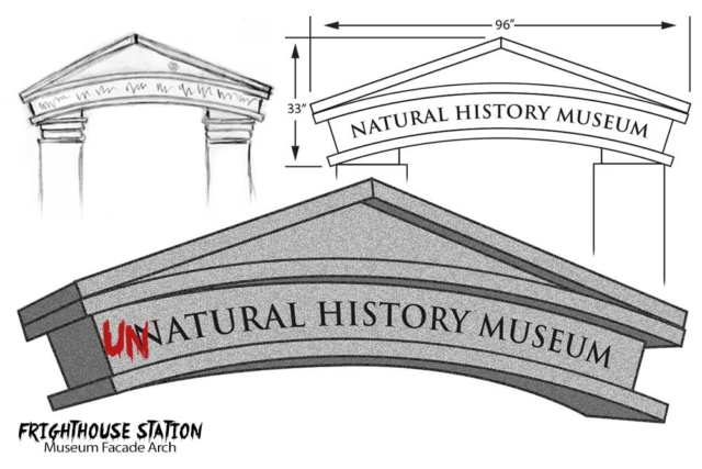 Museum facade design for haunted house
