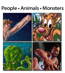 People • Animals • Monsters