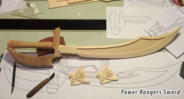 Power Rangers sword for costume