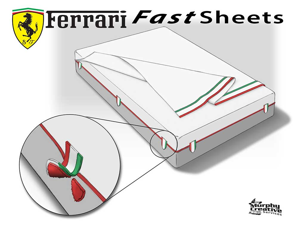 a bed sheet system that makes it fast and easy to change the sheets