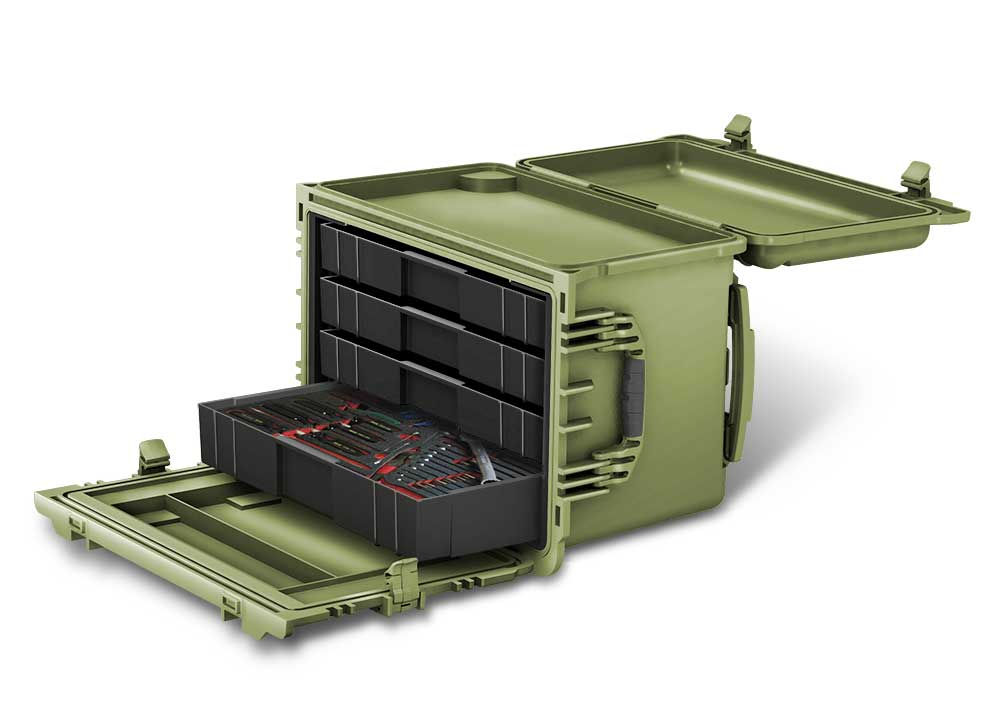 Concept drawing of a military toolbox