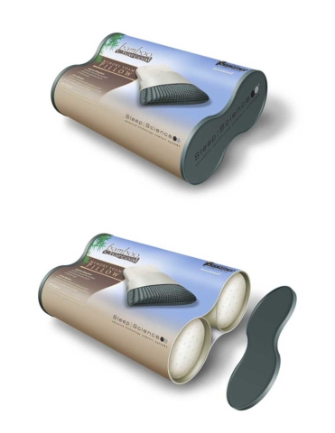 Concept drawing showing how pillow packaging would work